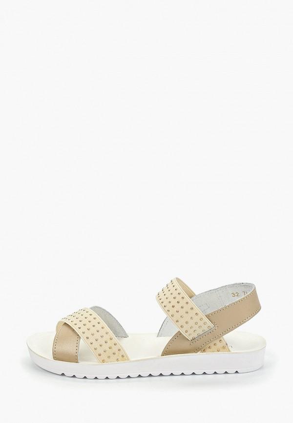 сандалии юничел для девочки, бежевые