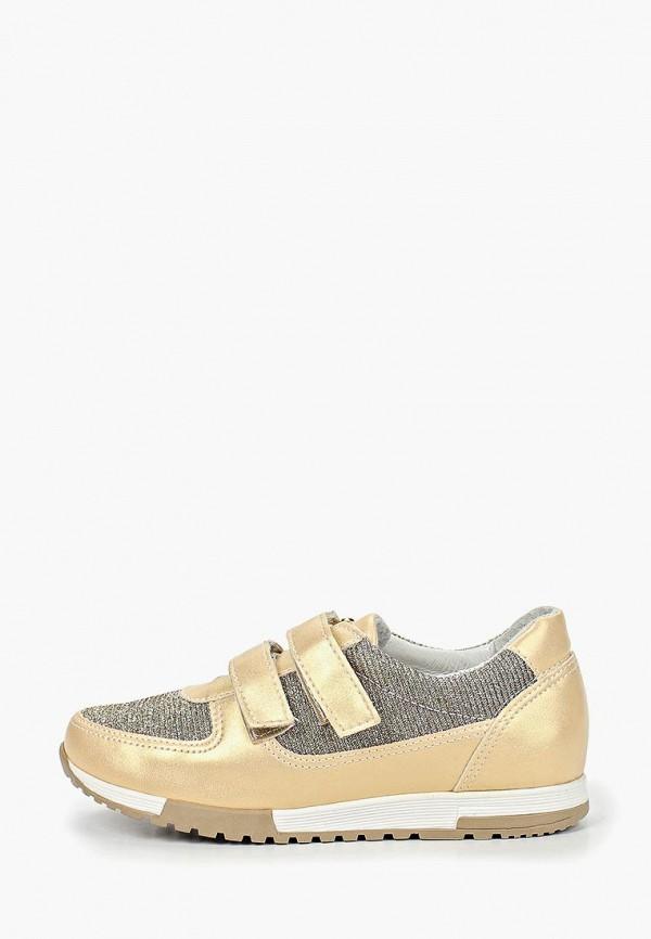 кроссовки юничел для девочки, золотые