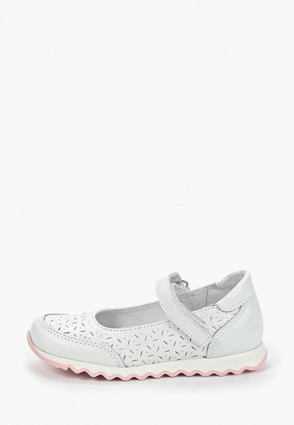 туфли юничел для девочки, белые