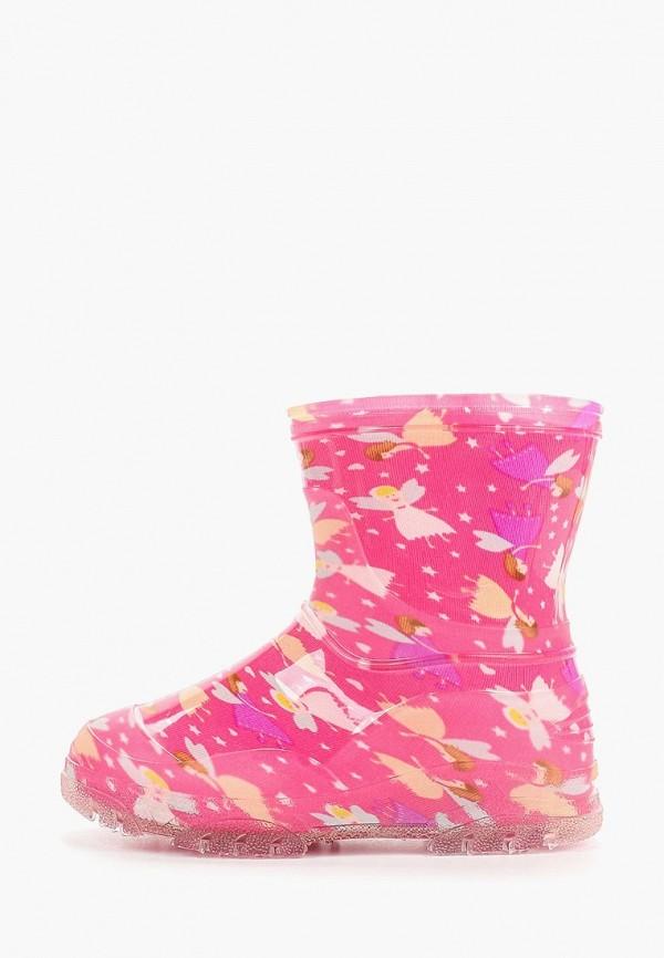 резиновые сапоги юничел для девочки, розовые