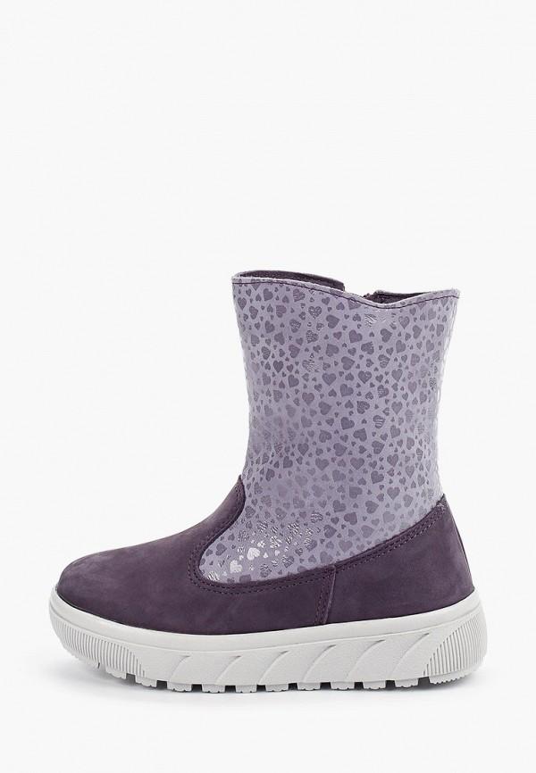 сапоги юничел для девочки, фиолетовые
