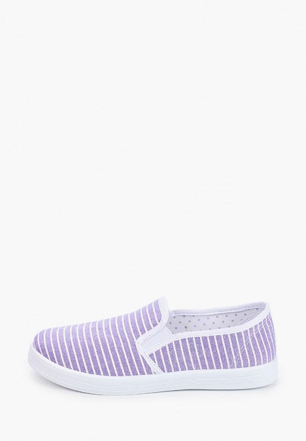 слипоны юничел для девочки, фиолетовые