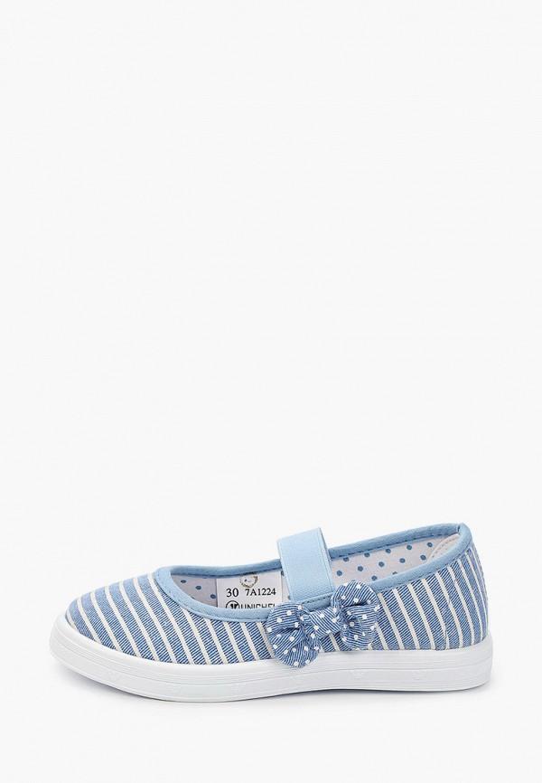 туфли юничел для девочки, голубые