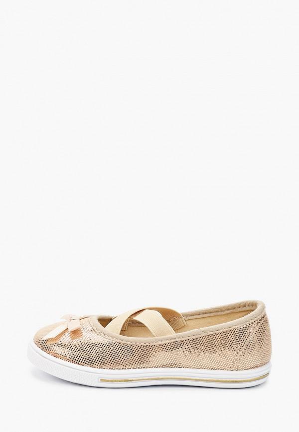 туфли юничел для девочки, золотые