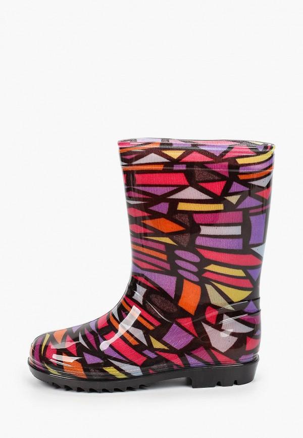 резиновые сапоги юничел для девочки, разноцветные