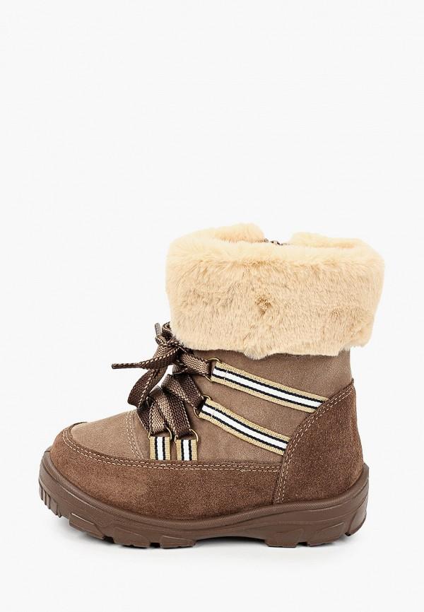ботинки юничел для девочки, коричневые