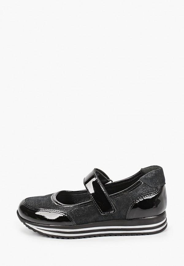 туфли юничел для девочки, черные