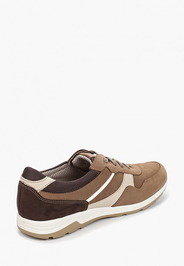 Фото 3 - мужские кроссовки Юничел коричневого цвета