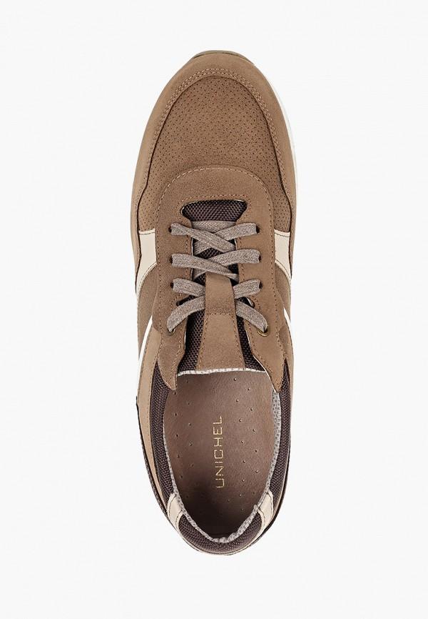 Фото 4 - мужские кроссовки Юничел коричневого цвета