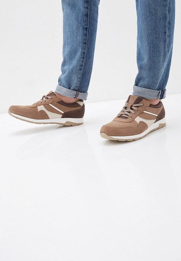 Фото 6 - мужские кроссовки Юничел коричневого цвета