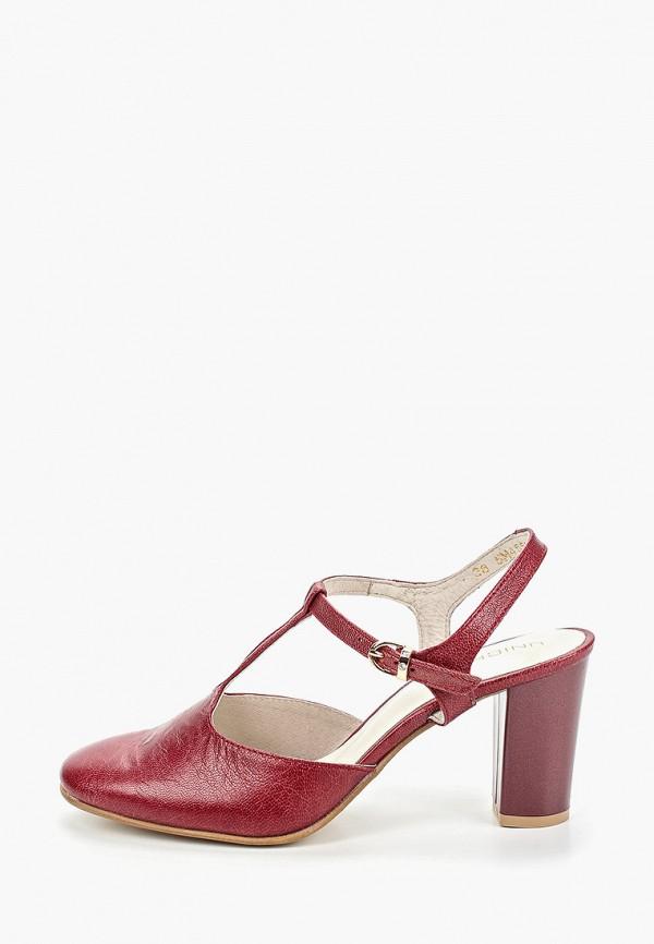 женские туфли юничел, бордовые