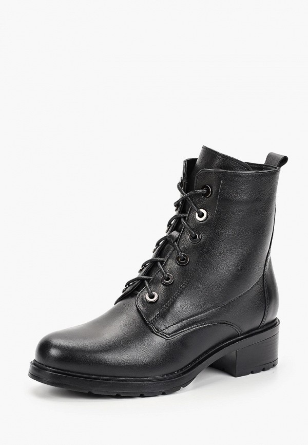 Фото 2 - Женские ботинки и полуботинки Юничел черного цвета