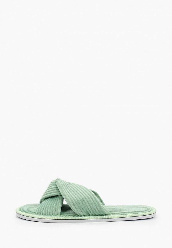 женские тапочки юничел, зеленые
