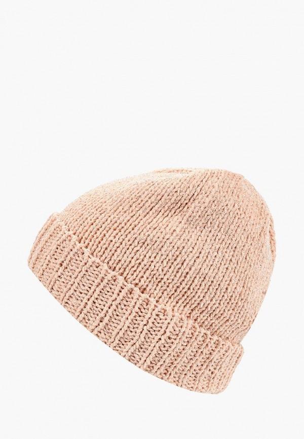 женская шапка zarina, розовая