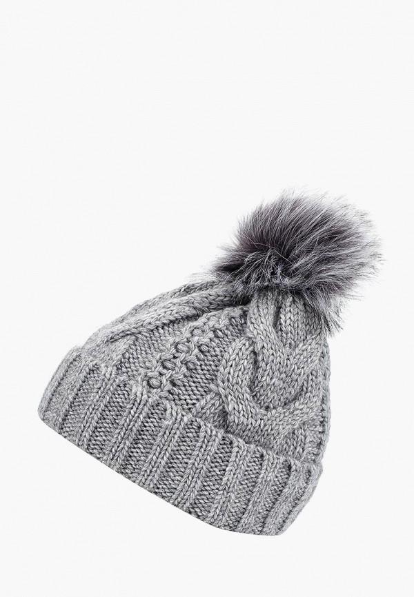 женская шапка zarina, серая