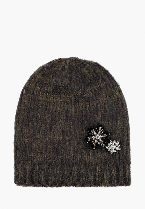 женская шапка zarina, зеленая