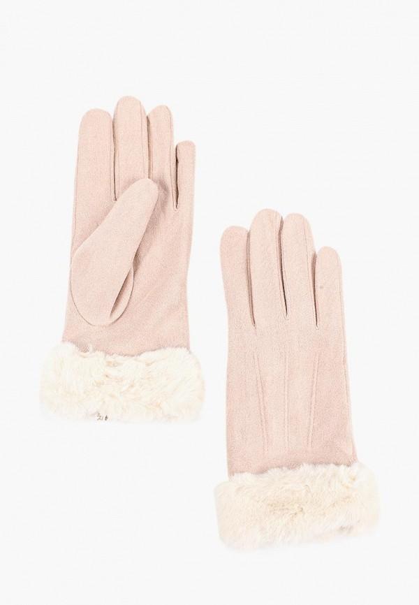 Перчатки  розовый цвета