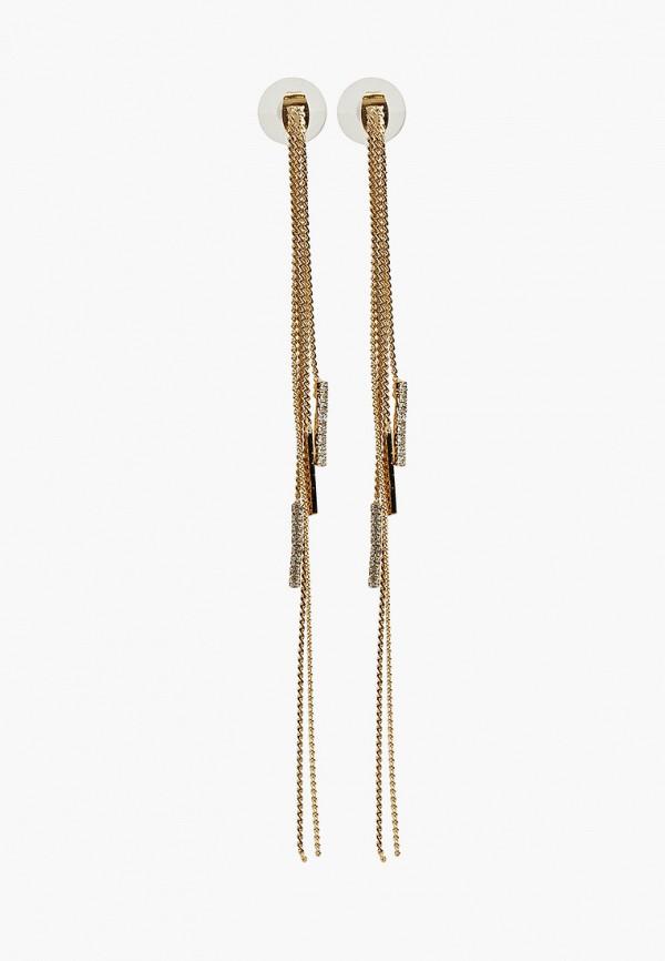 Фото - женские серьги, клипсы или пирсинг Zarina золотого цвета