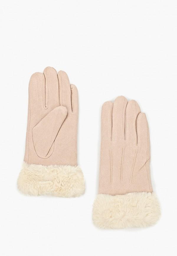 женские перчатки zarina, розовые