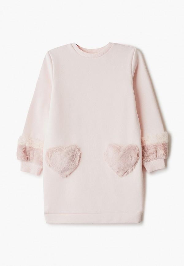 повседневные платье zarina для девочки, розовое