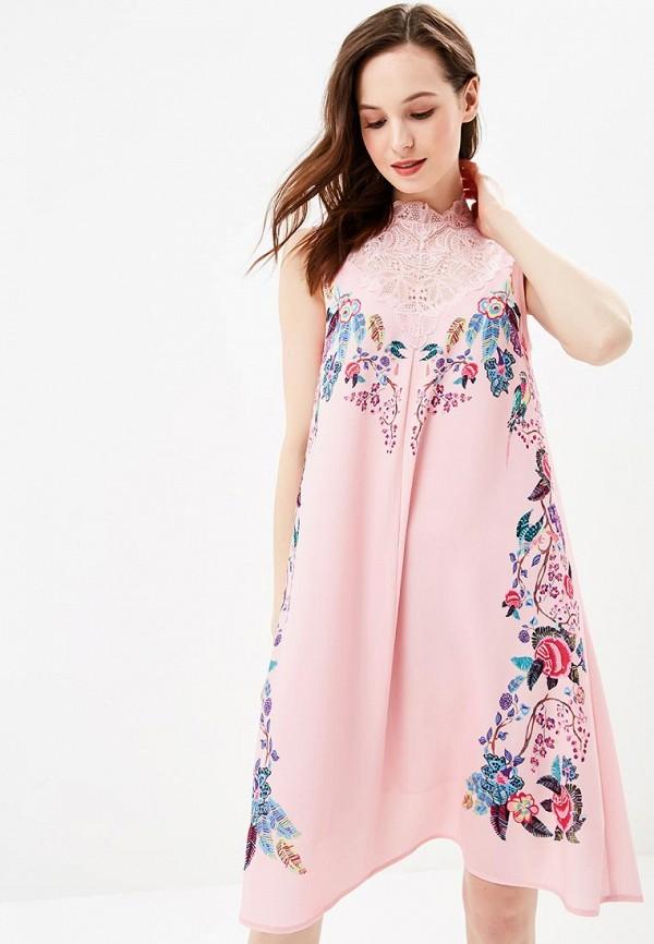 Купить Платье Zarina, za004ewazob5, розовый, Весна-лето 2018