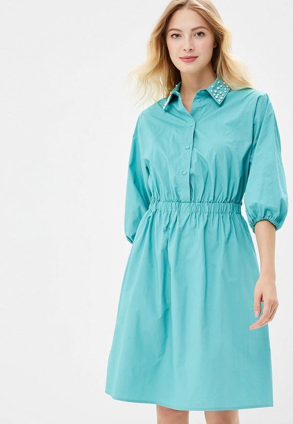 женское повседневные платье zarina, бирюзовое