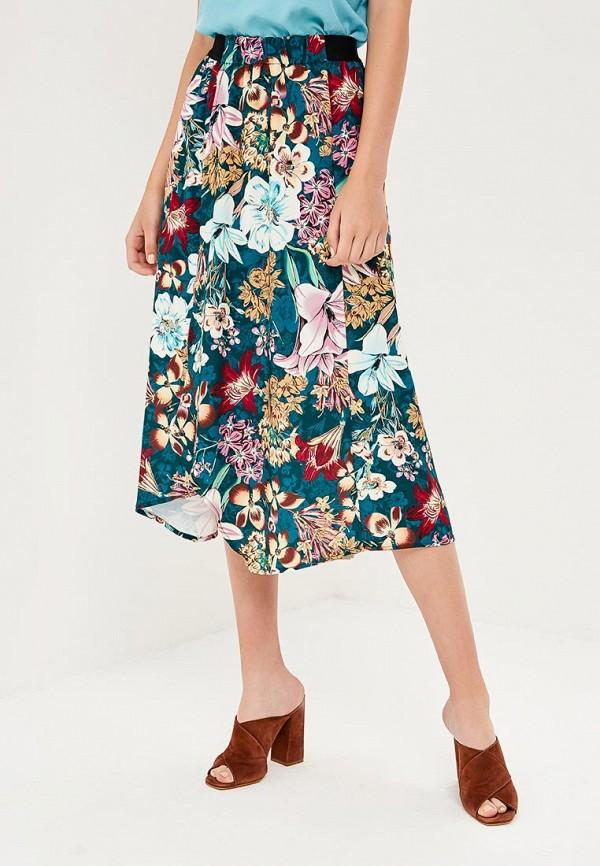 женская прямые юбка zarina, разноцветная