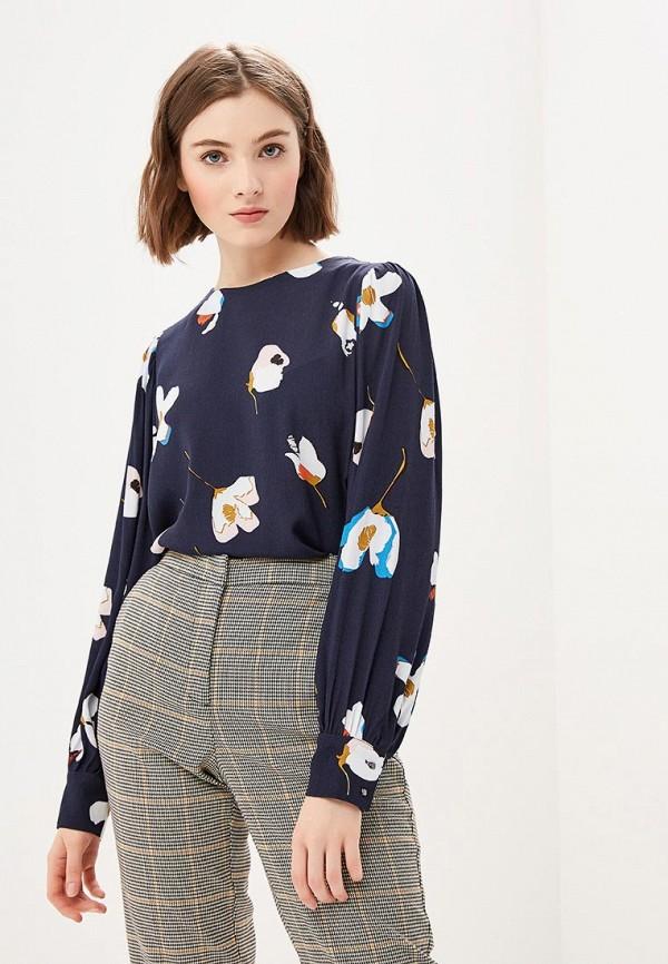 женская блузка zarina, синяя