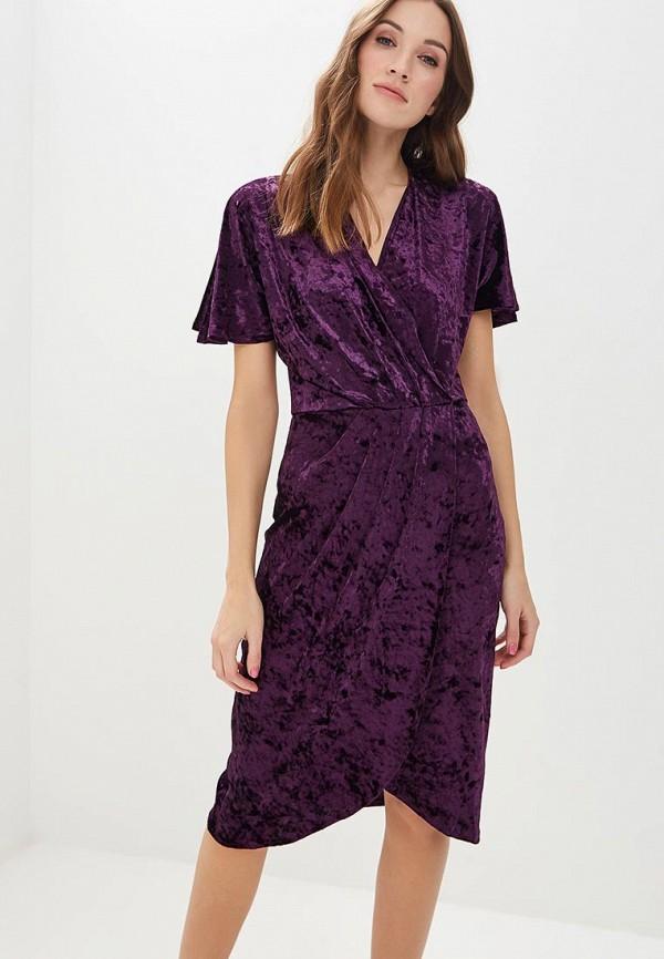 женское повседневные платье zarina, фиолетовое
