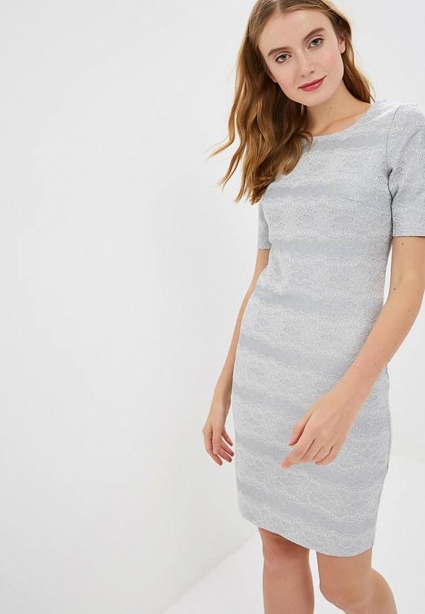 женское платье-футляр zarina, серебряное