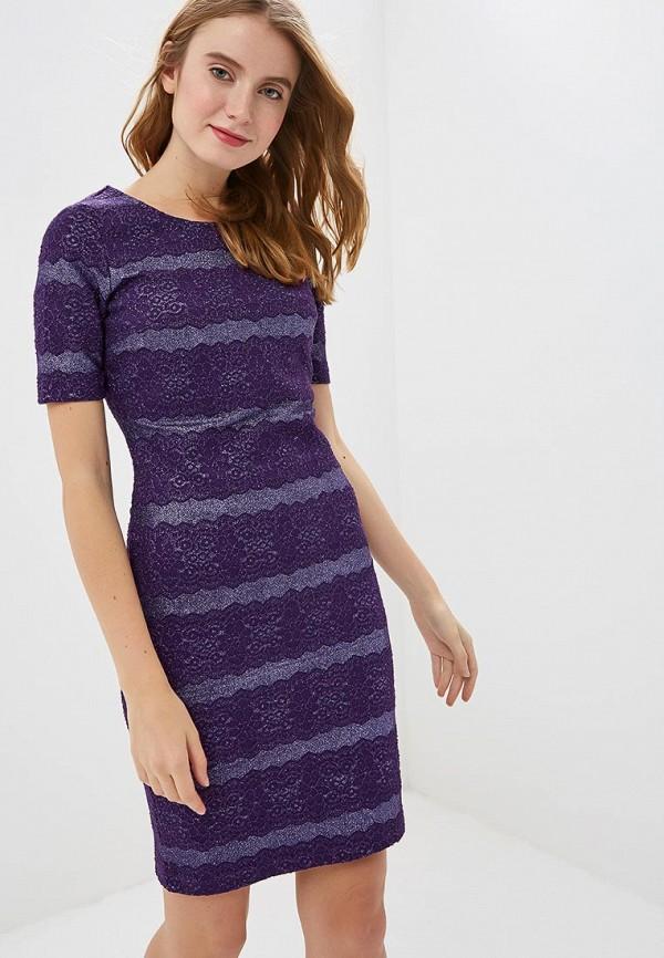 женское платье-футляр zarina, фиолетовое