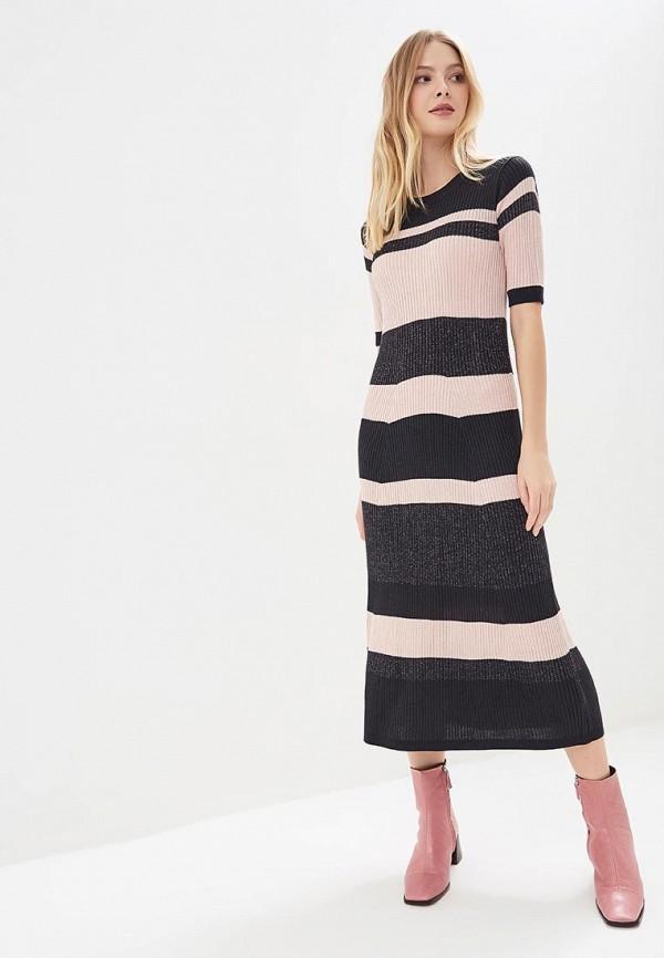 женское повседневные платье zarina, черное