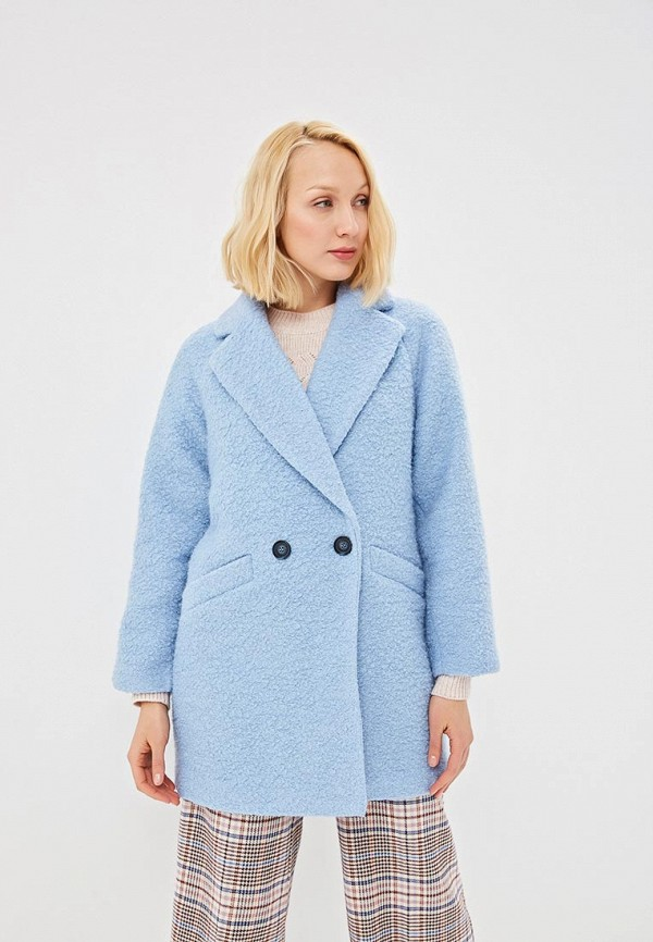 женское пальто zarina, голубое