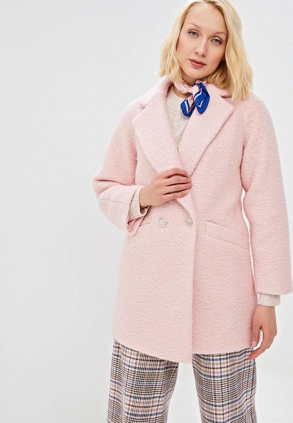 женское пальто zarina, розовое