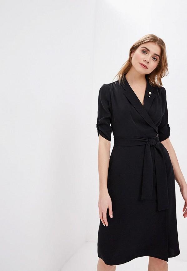 женское платье-футляр zarina, черное
