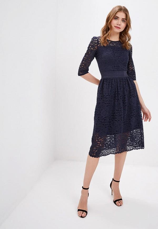 Фото 2 - женское вечернее платье Zarina синего цвета