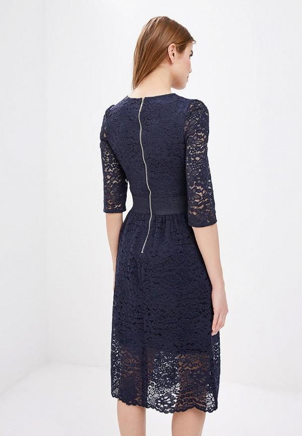 Фото 3 - женское вечернее платье Zarina синего цвета