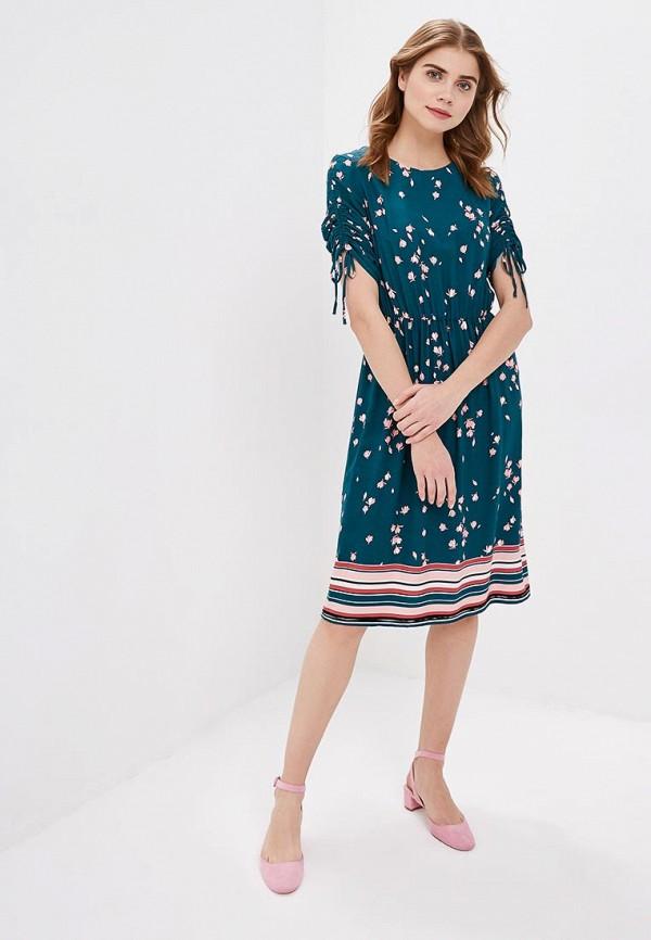 Фото 2 - женское платье Zarina бирюзового цвета