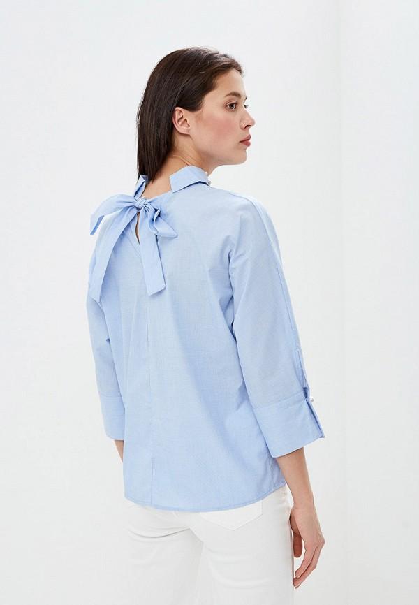 Фото 3 - женскую блузку Zarina голубого цвета