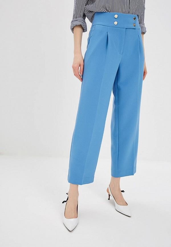 женские повседневные брюки zarina, голубые