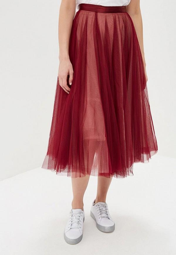 женская юбка zarina, бордовая