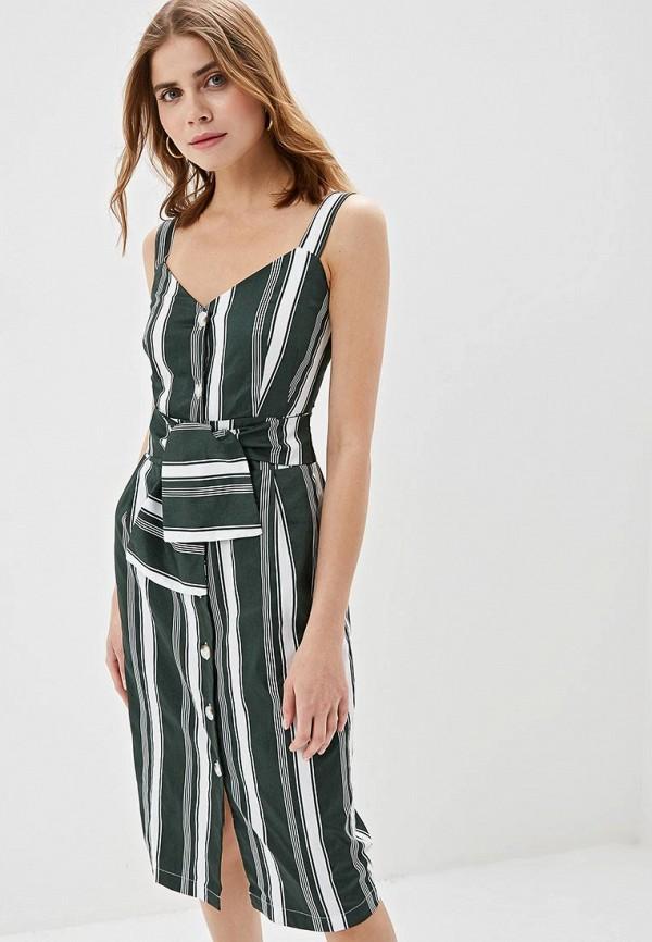 женское повседневные платье zarina, зеленое