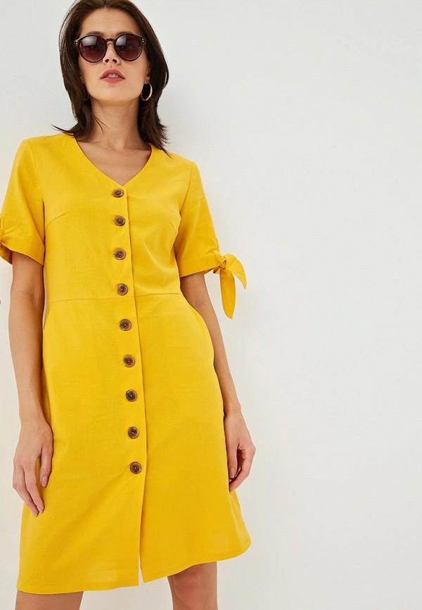 женское платье zarina, желтое