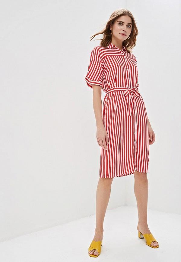 Фото 2 - женское платье Zarina красного цвета