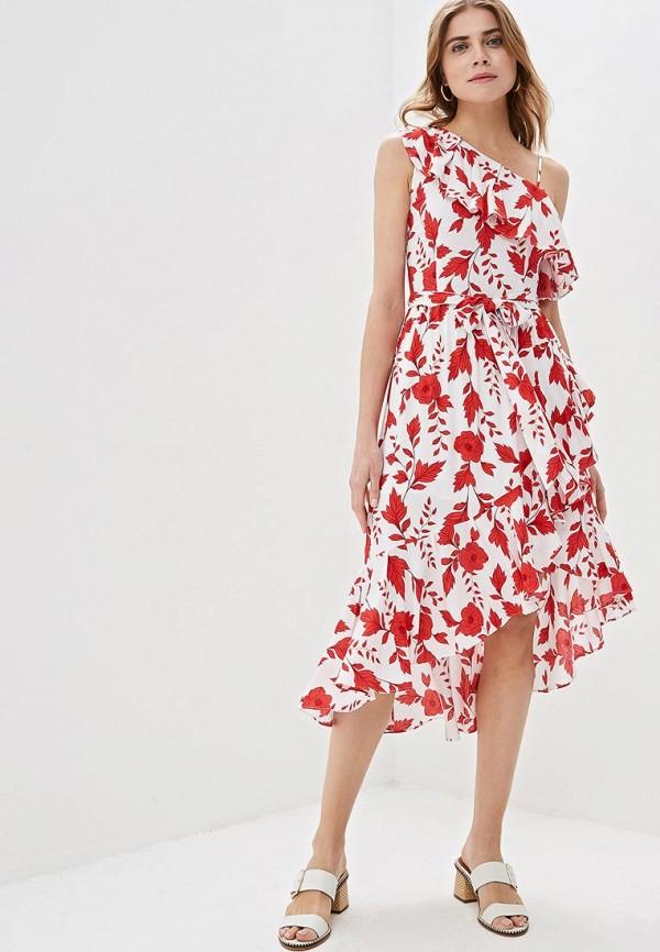 женское повседневные платье zarina, белое