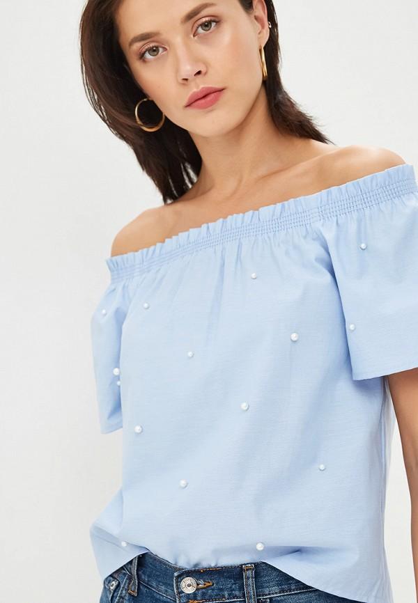 женская блузка zarina, голубая
