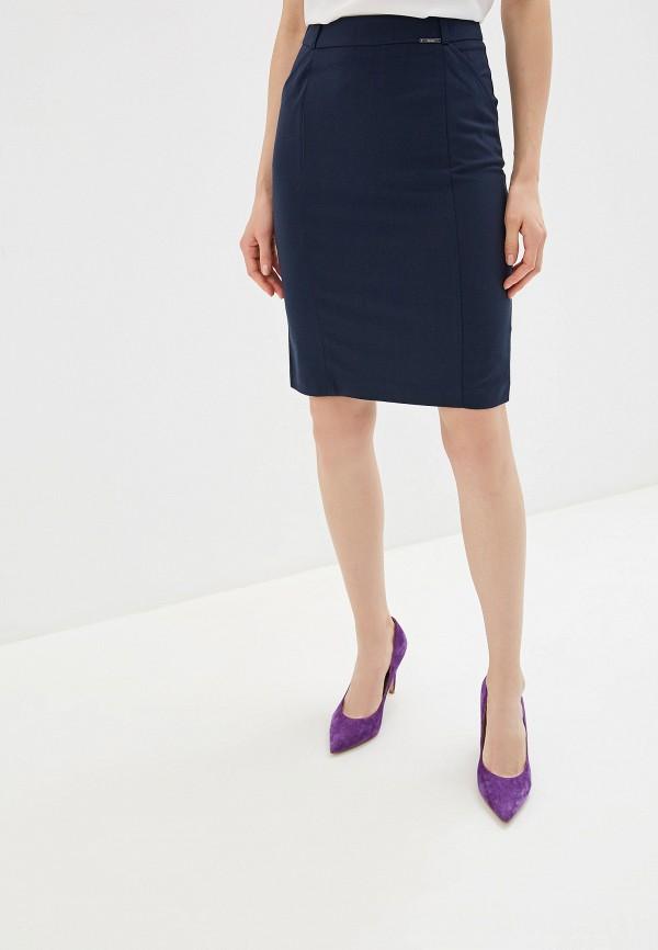 женская зауженные юбка zarina, синяя