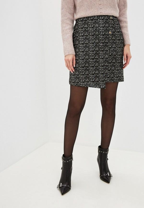 женская прямые юбка zarina, черная