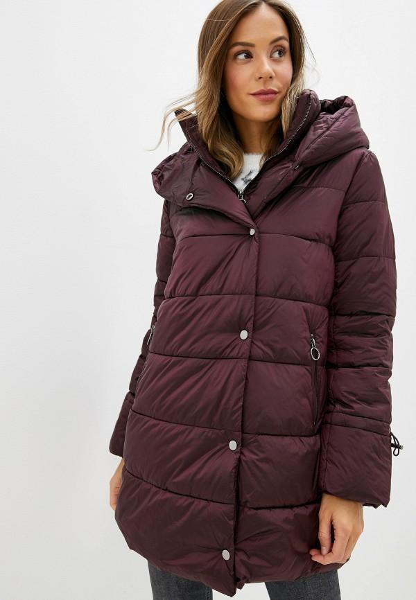 женская куртка zarina, бордовая