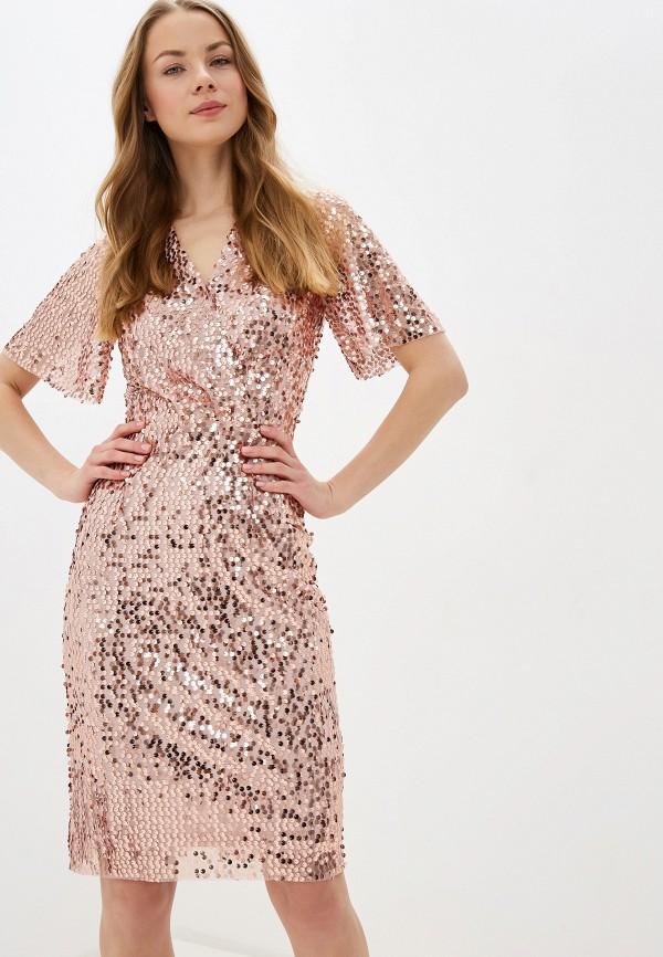 женское вечерние платье zarina, розовое